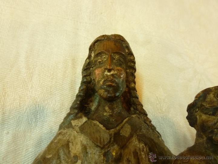 Arte: antigua talla de madera santo - Foto 8 - 39633293