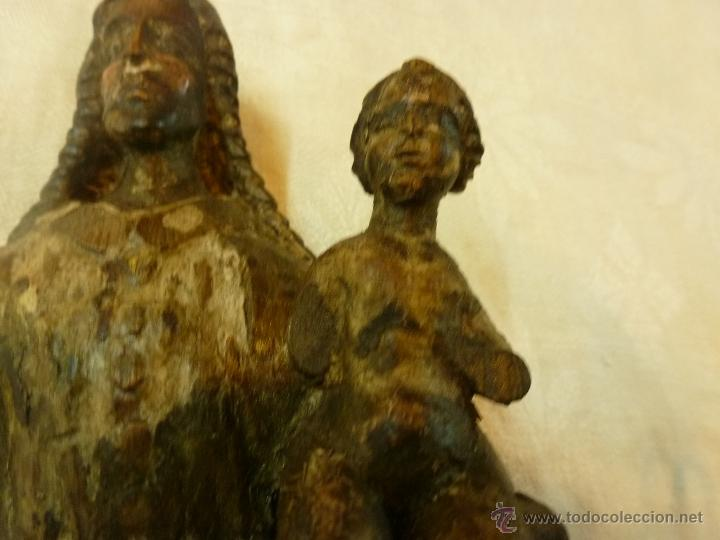 Arte: antigua talla de madera santo - Foto 9 - 39633293