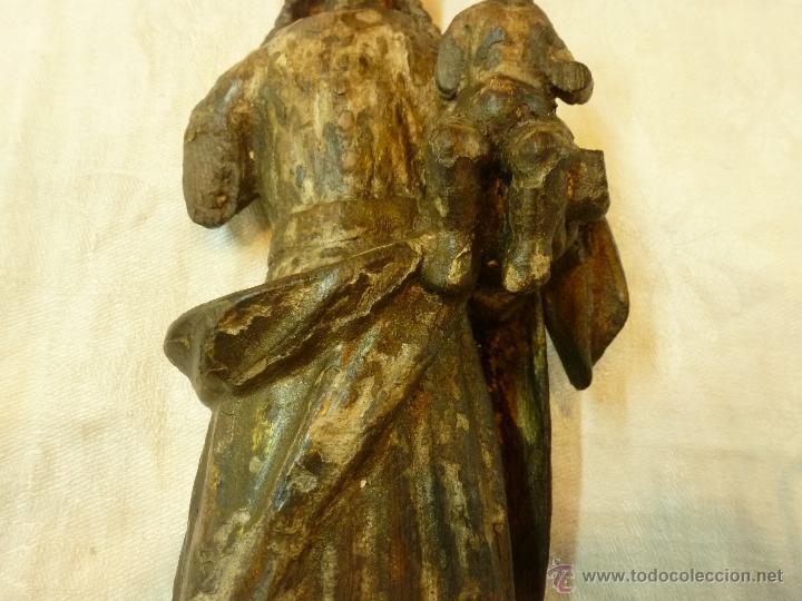 Arte: antigua talla de madera santo - Foto 11 - 39633293