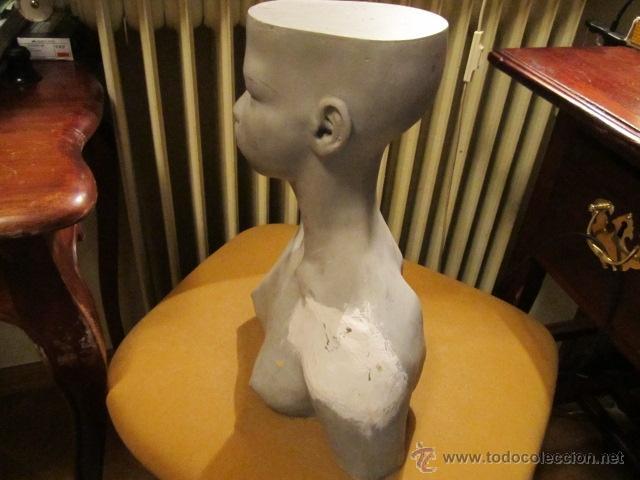 Arte: Escultura busto de mujer fibra de vidrio, prueba de autor firmada a lapiz Jesus Curia - Foto 6 - 39830324