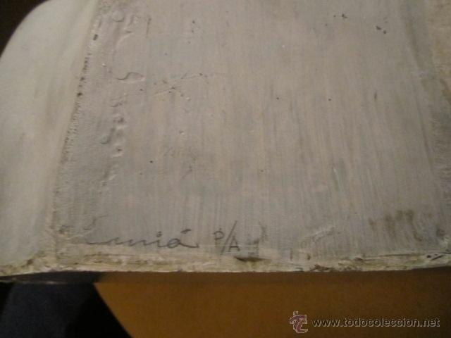 Arte: Escultura busto de mujer fibra de vidrio, prueba de autor firmada a lapiz Jesus Curia - Foto 7 - 39830324