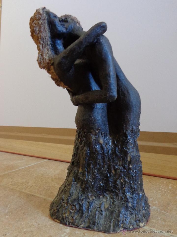 ENTRAÑABLE ESCULTURA EN TERRACOTA ÁRBOL DEL AMOR. SAN VALENTIN (Arte - Escultura - Terracota )