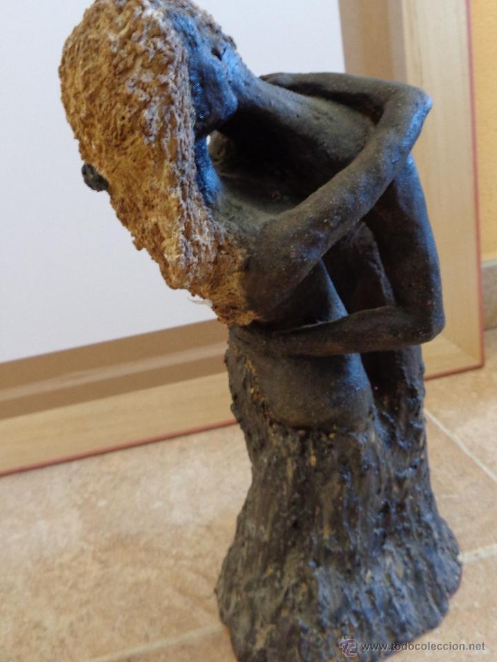 Arte: ENTRAÑABLE ESCULTURA EN TERRACOTA ÁRBOL DEL AMOR. SAN VALENTIN - Foto 2 - 39843163