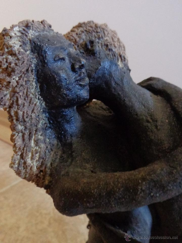 Arte: ENTRAÑABLE ESCULTURA EN TERRACOTA ÁRBOL DEL AMOR. SAN VALENTIN - Foto 4 - 39843163