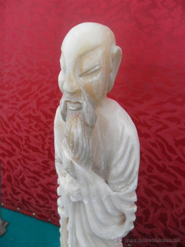 Arte: figura oriental alabastro - Foto 2 - 41072044