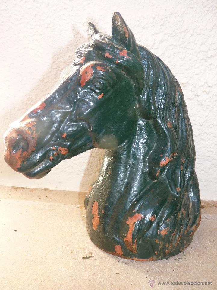 PRECIOSA CABEZA DE CABALLO MUY PESADA (Arte - Escultura - Hierro)