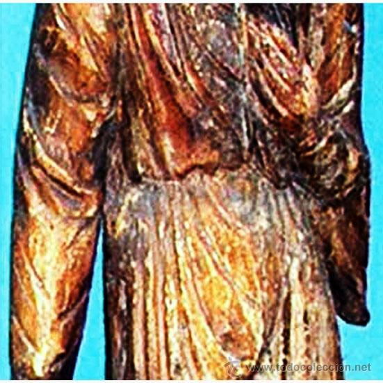 Arte: GRAN FIGURA, TALLA ORIENTAL S. XVIII.TALLA EN TRONCO DE ARBOL DE UNA SOLA PIEZA, POLICROMADA.144 CM. - Foto 6 - 41252271