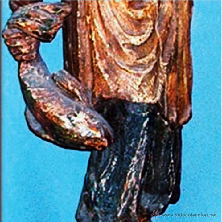 Arte: GRAN FIGURA, TALLA ORIENTAL S. XVIII.TALLA EN TRONCO DE ARBOL DE UNA SOLA PIEZA, POLICROMADA.144 CM. - Foto 8 - 41252271