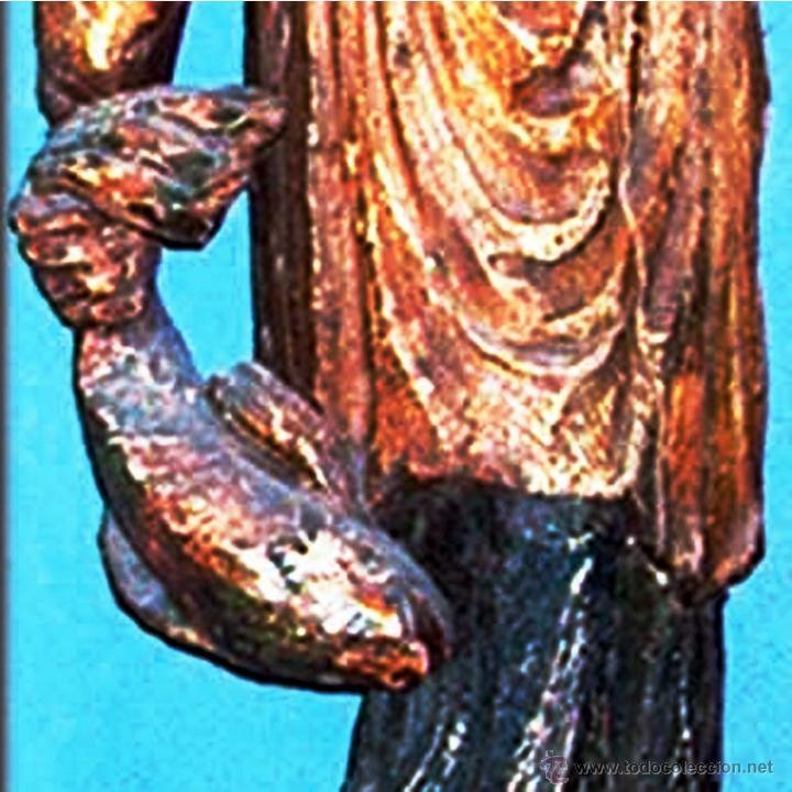 Arte: GRAN FIGURA, TALLA ORIENTAL S. XVIII.TALLA EN TRONCO DE ARBOL DE UNA SOLA PIEZA, POLICROMADA.144 CM. - Foto 9 - 41252271