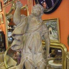 Arte: TALLA DE MADERA DE UN ANGEL TROMPETERO FINALES DEL SIGLO XVII PRINCIPIO DEL XVIII. Lote 41302401