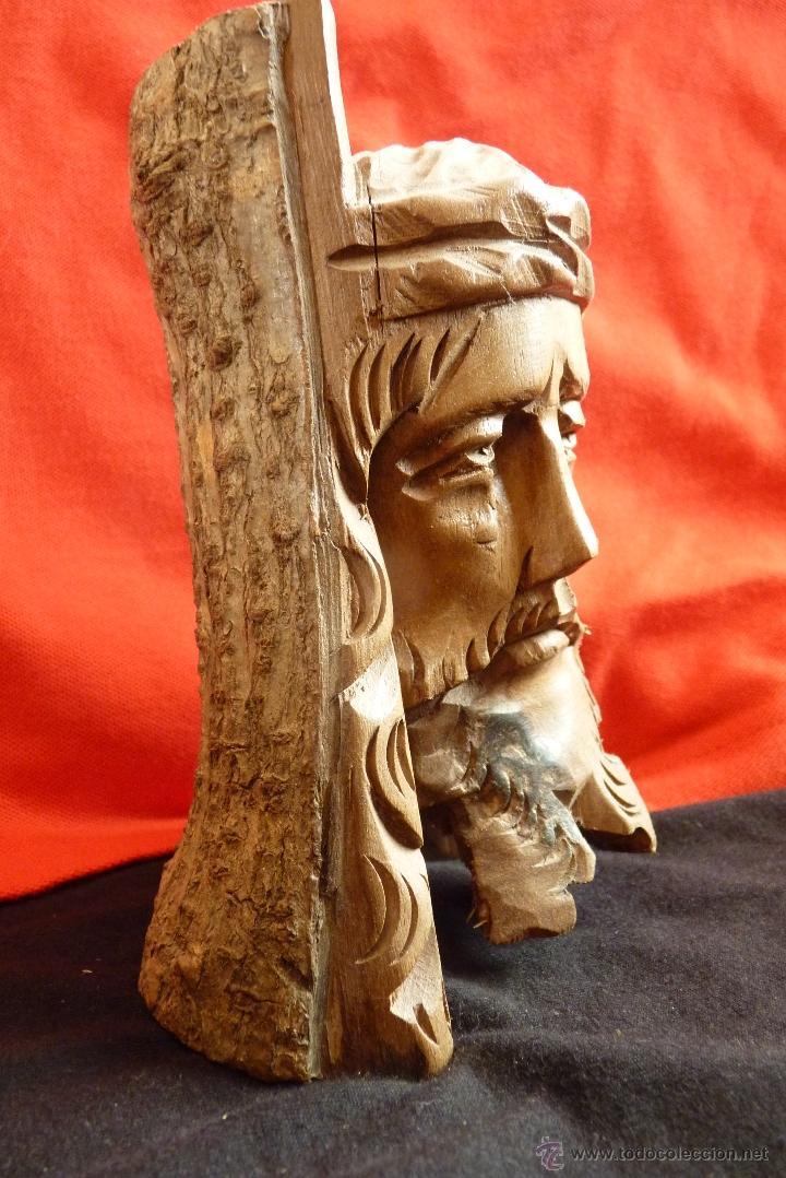 Arte: TALLA EN MADERA, BUSTO, ROSTRO DE CRISTO - Foto 3 - 41379935