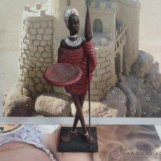 Arte: GUERRERO AFRICANO MASAI 32 CM DE ALTURA. Lote 41464399