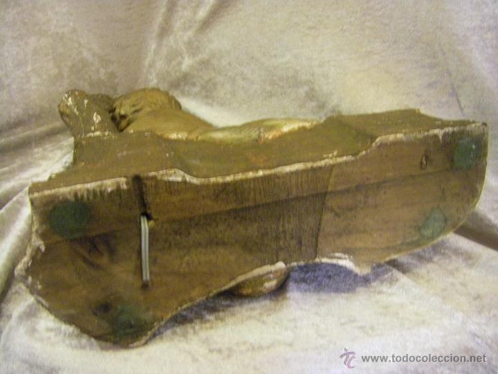 Arte: Escultura de madera con niño, para base de lámpara finales del siglo XIX - Foto 15 - 41687538