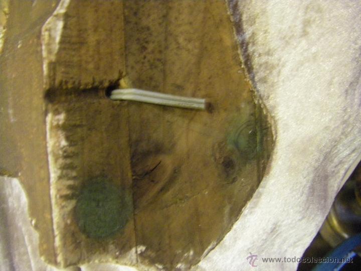 Arte: Escultura de madera con niño, para base de lámpara finales del siglo XIX - Foto 16 - 41687538
