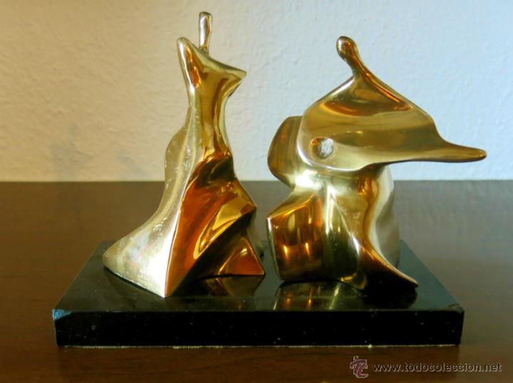 ROBERTO LAORGA. INTERESANTE ESCULTURA EN BRONCE, FIRMADA. (Arte - Escultura - Bronce)