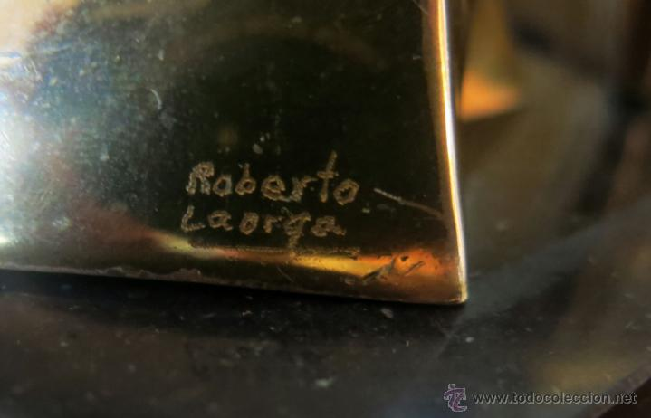 Arte: Roberto Laorga. Interesante escultura en bronce, firmada. - Foto 2 - 41746642