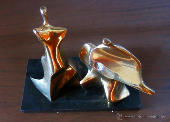 Arte: Roberto Laorga. Interesante escultura en bronce, firmada. - Foto 3 - 41746642