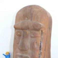 Arte: ESCULTURA ANTIGUA TALLADA EN MADERA MUY DURA, RARA, AFRICANA O TIPO AZTECA - INCA ? . Lote 41767695