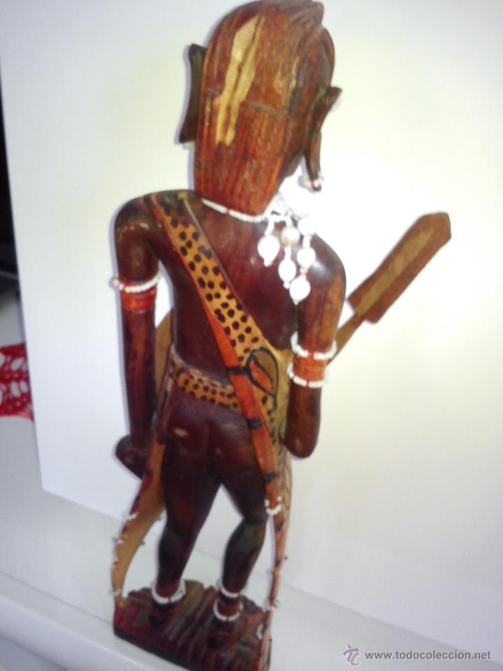 Arte: PRECIOSA ESCULTURA DE UN GUERRERO NEGRO PARA COLECCION HECHA A MANO - Foto 9 - 42158588