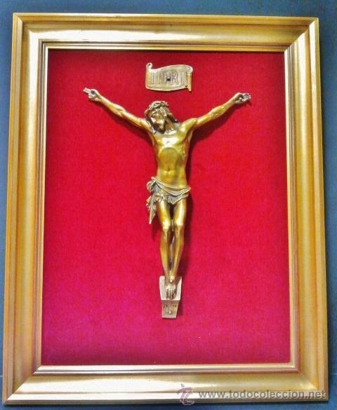 gran cristo de bronce de bulto redondo con cuid - Comprar Esculturas ...