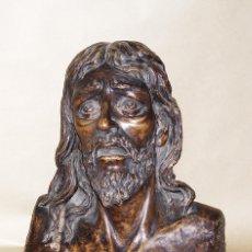 Arte: BUSTO DE CRISTO. ANTONIO ILLANES RODRÍGUEZ (FIRMADO Y FECHADO). BARRO. MAGNÍFICA OBRA. Lote 42619182