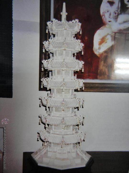 PAGODA CHINA (Arte - Escultura - Hueso)