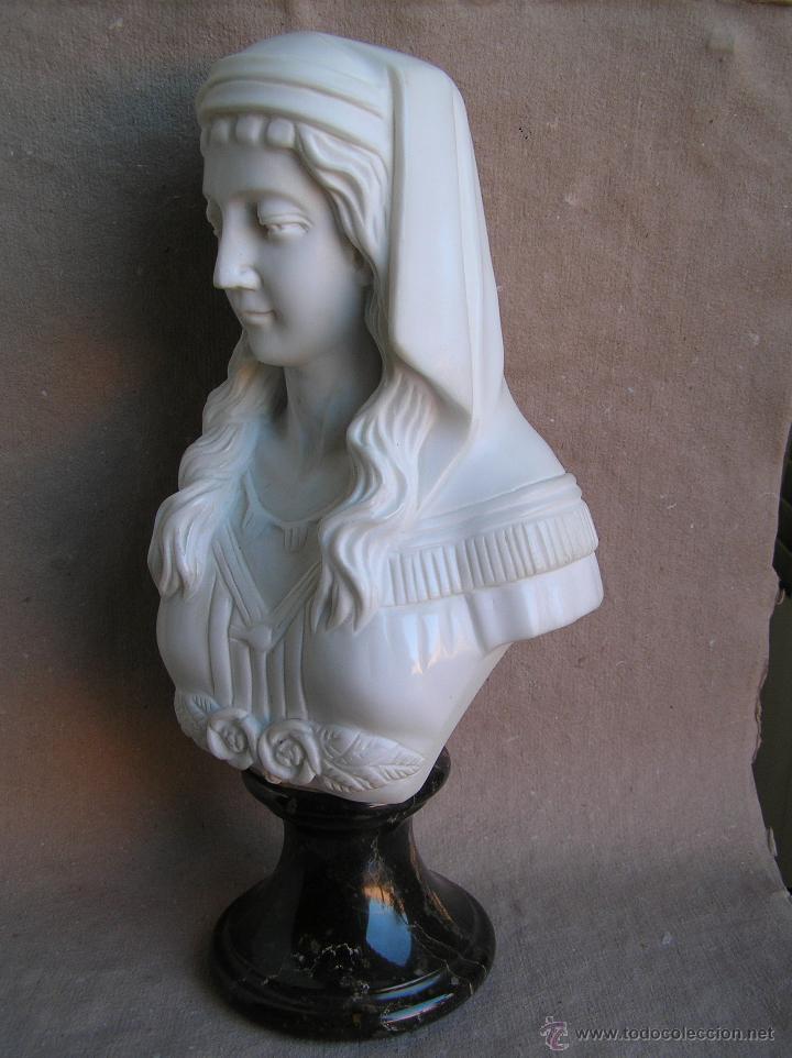 BUSTO DE ODALISCA . MARMOL DE CARRARA. (Arte - Escultura - Piedra)