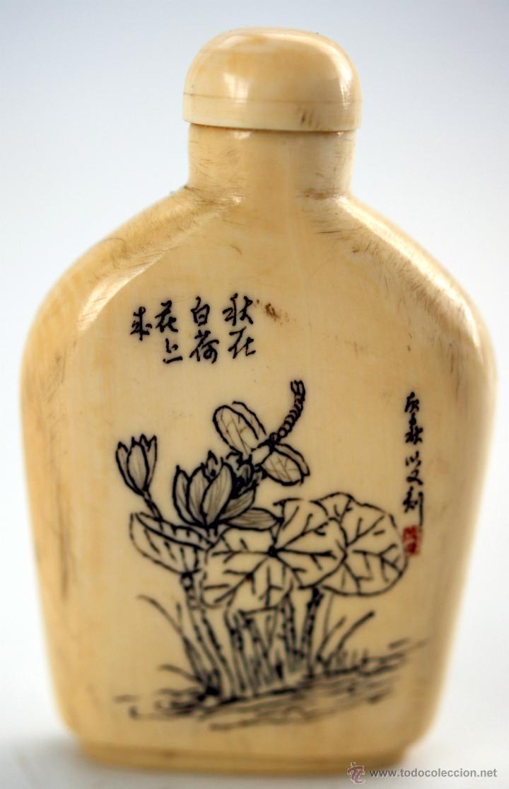 TABAQUERA CHINA PARA RAPÉ - S. XIX (Arte - Escultura - Marfil)