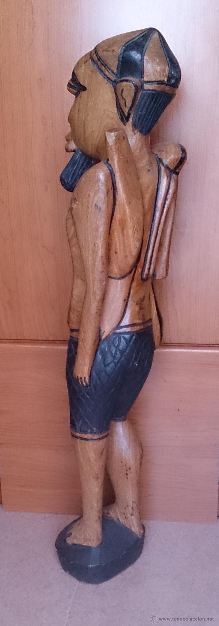 Arte: Gran talla indígena en madera maciza ( 91,5 CM DE ALTO ) . - Foto 4 - 43242684