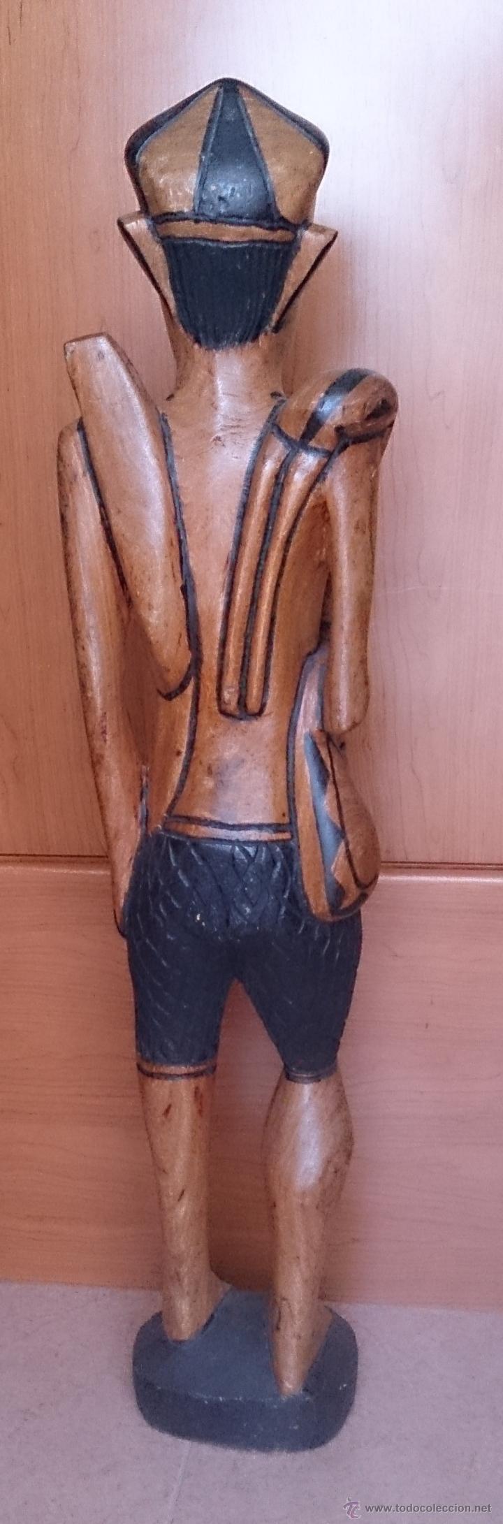 Arte: Gran talla indígena en madera maciza ( 91,5 CM DE ALTO ) . - Foto 5 - 43242684