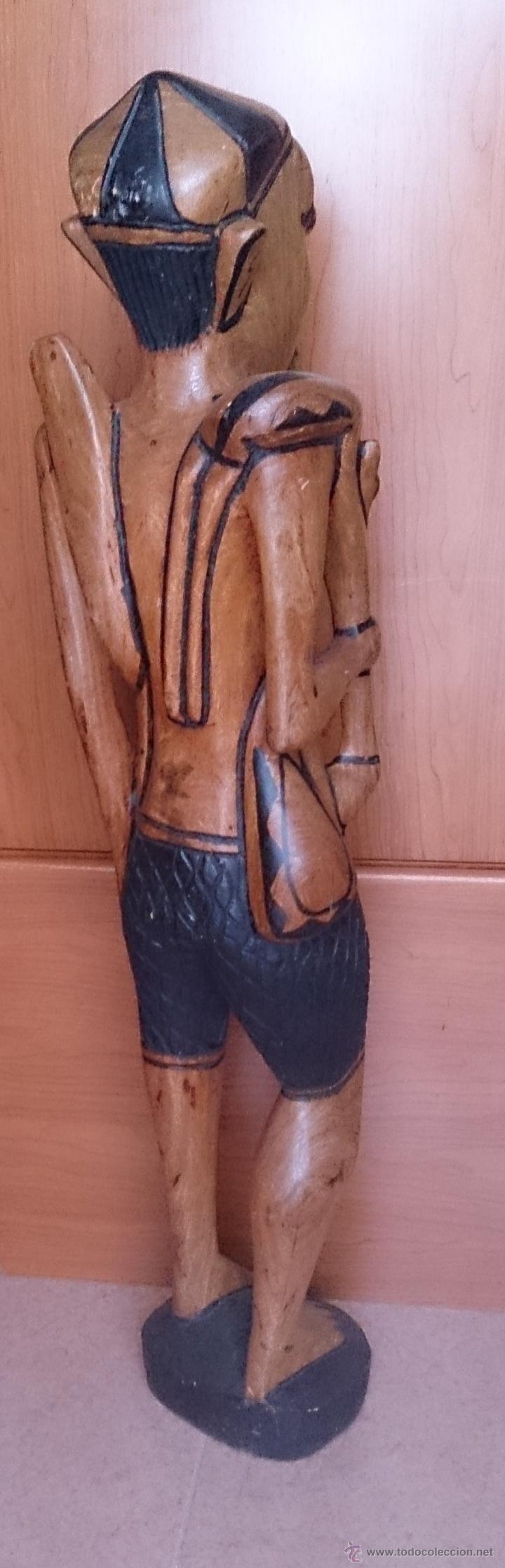 Arte: Gran talla indígena en madera maciza ( 91,5 CM DE ALTO ) . - Foto 6 - 43242684