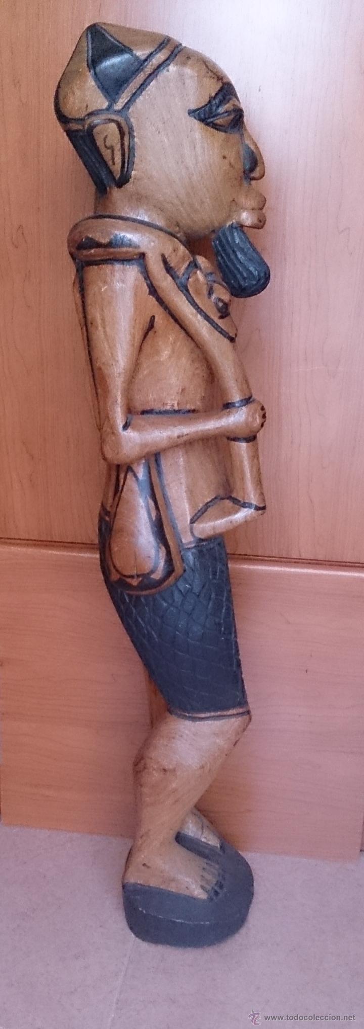 Arte: Gran talla indígena en madera maciza ( 91,5 CM DE ALTO ) . - Foto 7 - 43242684