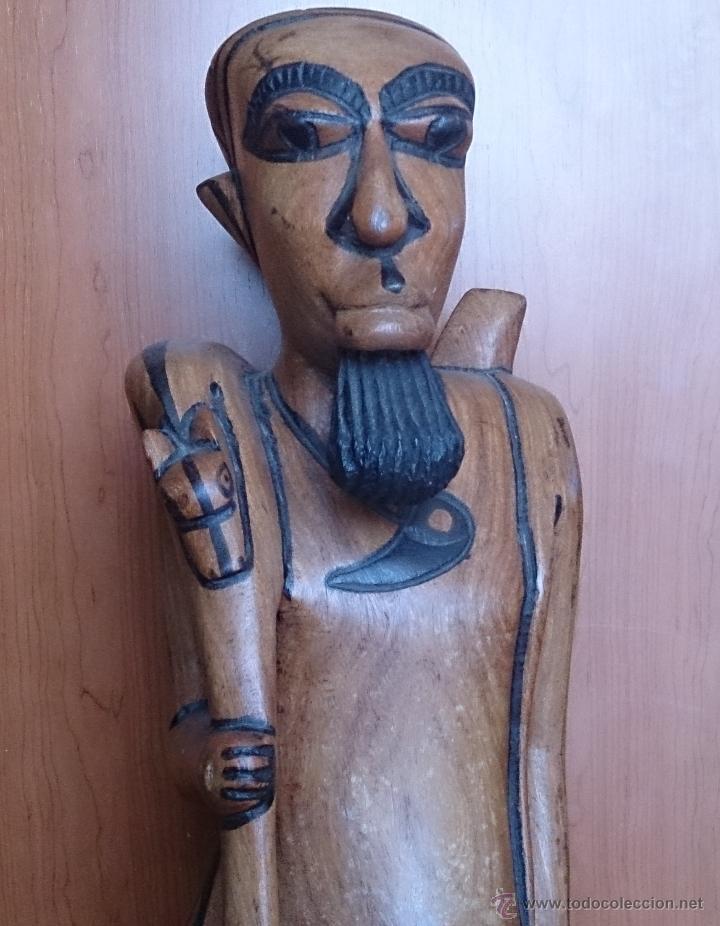 Arte: Gran talla indígena en madera maciza ( 91,5 CM DE ALTO ) . - Foto 9 - 43242684