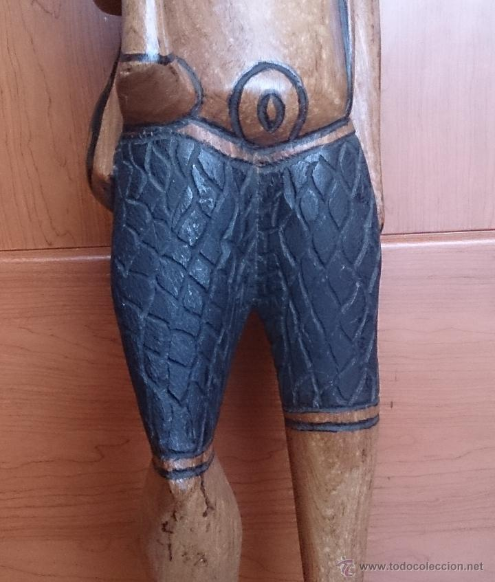 Arte: Gran talla indígena en madera maciza ( 91,5 CM DE ALTO ) . - Foto 10 - 43242684