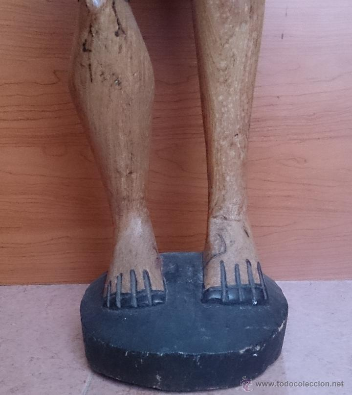 Arte: Gran talla indígena en madera maciza ( 91,5 CM DE ALTO ) . - Foto 11 - 43242684