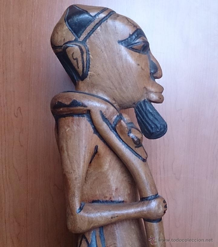 Arte: Gran talla indígena en madera maciza ( 91,5 CM DE ALTO ) . - Foto 12 - 43242684