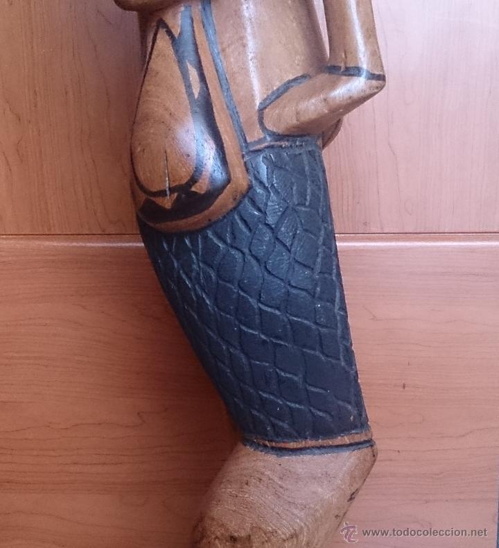 Arte: Gran talla indígena en madera maciza ( 91,5 CM DE ALTO ) . - Foto 13 - 43242684