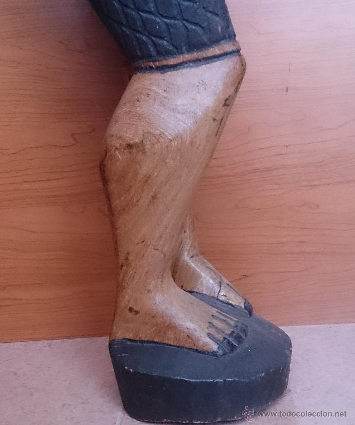 Arte: Gran talla indígena en madera maciza ( 91,5 CM DE ALTO ) . - Foto 14 - 43242684