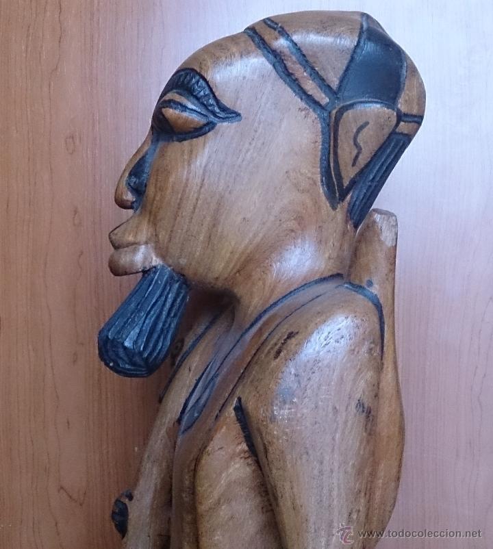 Arte: Gran talla indígena en madera maciza ( 91,5 CM DE ALTO ) . - Foto 18 - 43242684