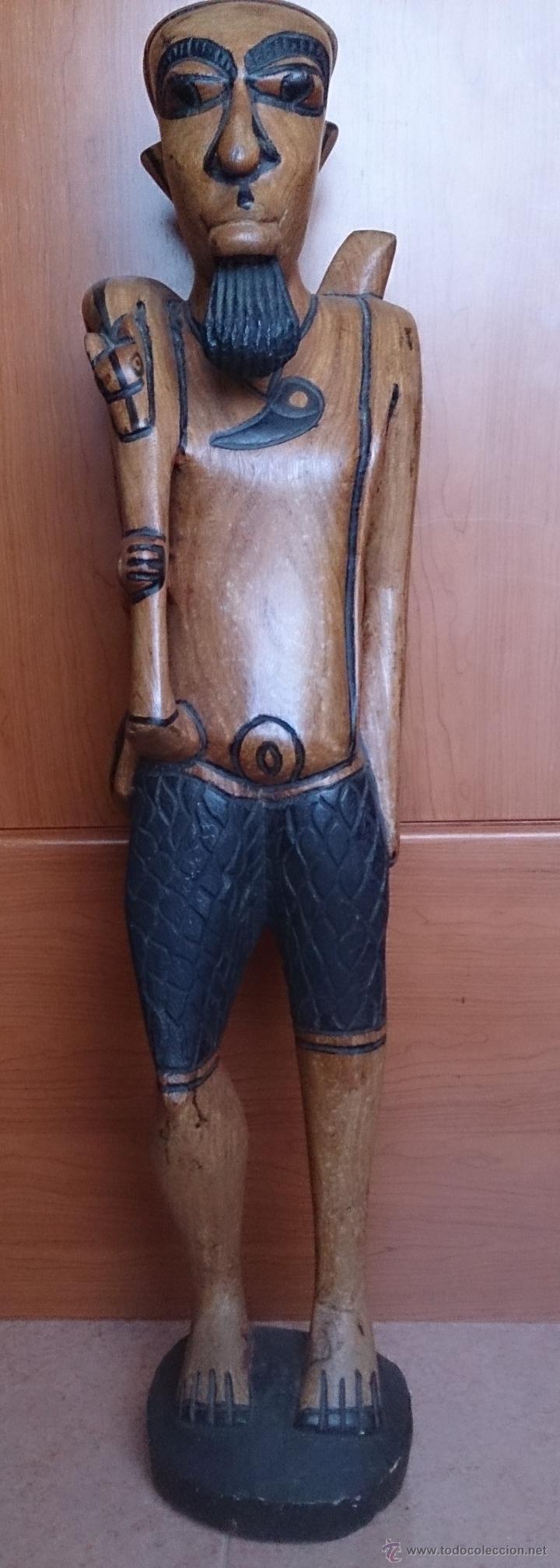 Arte: Gran talla indígena en madera maciza ( 91,5 CM DE ALTO ) . - Foto 22 - 43242684