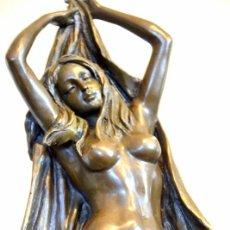 Arte: PRECIOSA ESCULTURA EN BRONCE, DESNUDO FEMENINO (31CM X 20 CM X 15,5 CM). Lote 43440078