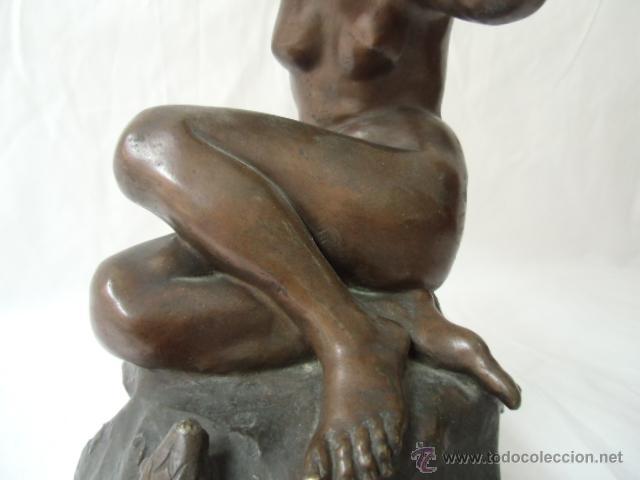 Arte: Figura femenina de bronce - Foto 3 - 43921421
