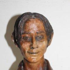 Arte: LUIS HEREDIA AMAYA (1920-1985) - MI AUTORRETRATO - BUSTO EN TERRACOTA - AÑOS 50. Lote 43938928
