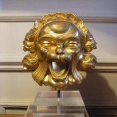 Arte: ESCULTURA CABEZA DE UN LEÓN PROVENIENTE DE BOISERIE VENECIANO DEL SIGLO XVIII. Lote 43951211
