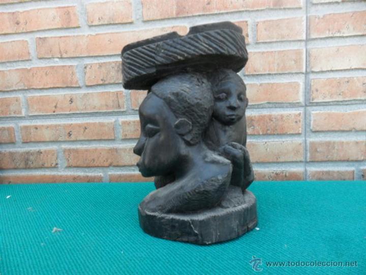 Arte: talla afrinana madera de ebano - Foto 2 - 43985550
