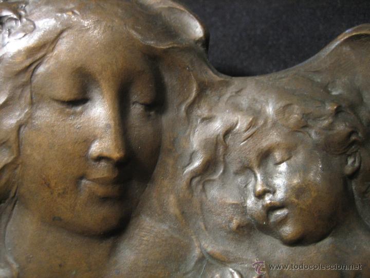 Arte: Placa en bronce Becker Art Nouveau finales s. XIX - Foto 2 - 43993400