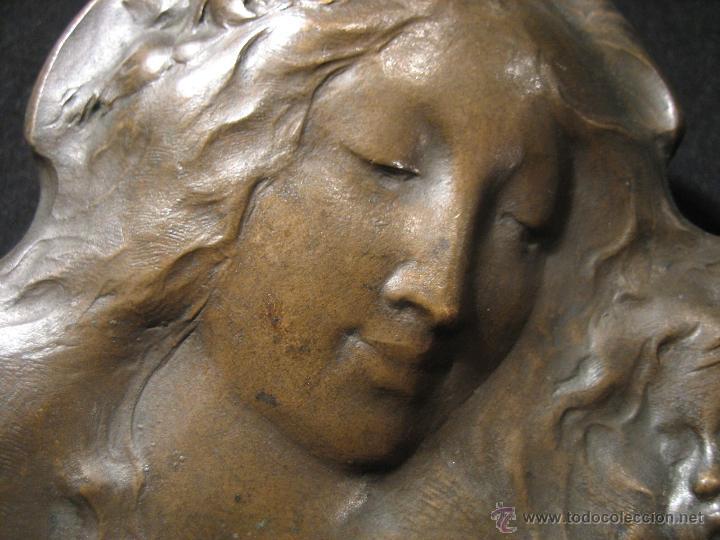 Arte: Placa en bronce Becker Art Nouveau finales s. XIX - Foto 5 - 43993400