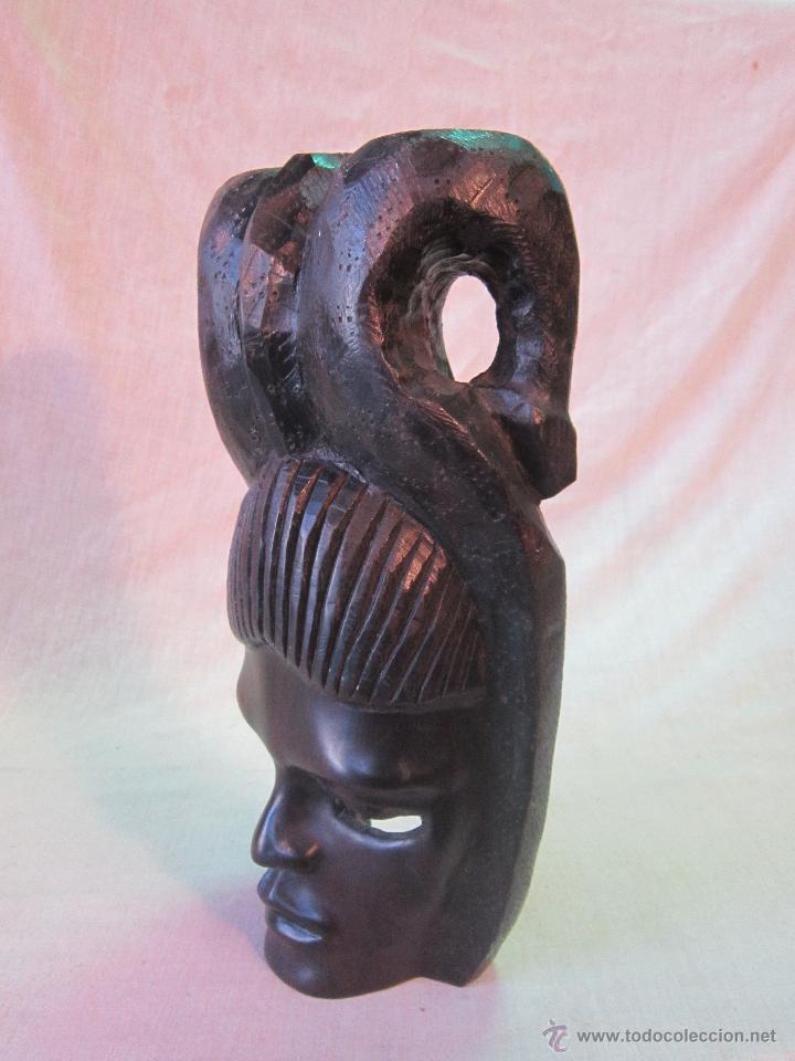 Arte: busto africano TALLA EN MADERA - Foto 3 - 44123545