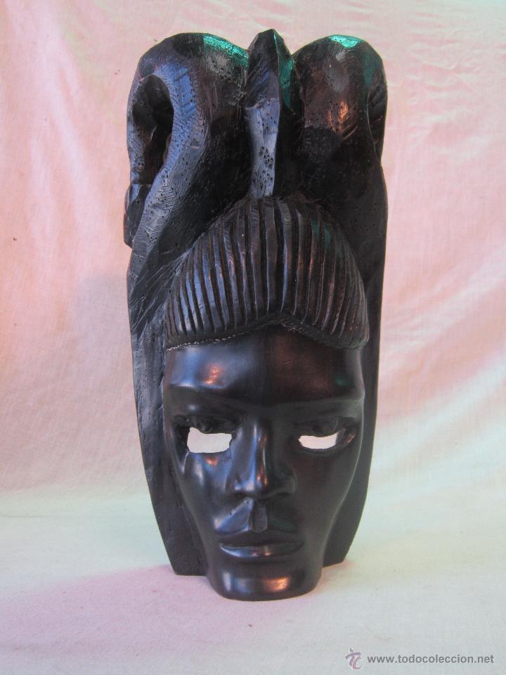 Arte: busto africano TALLA EN MADERA - Foto 5 - 44123545