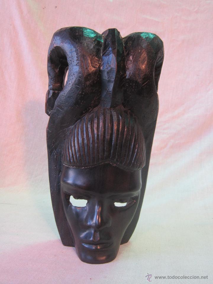 Arte: busto africano TALLA EN MADERA - Foto 6 - 44123545